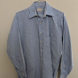 Tommy Bahama Shirt Top Blue White Striped